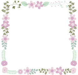 Elegant vector floral frame template for wedding invitations and greeting cards