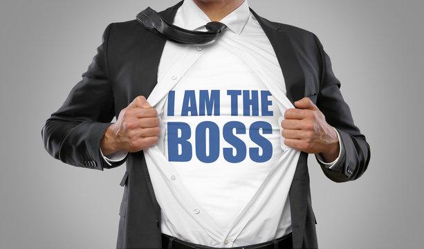 I am the Boss / Man open Shirt