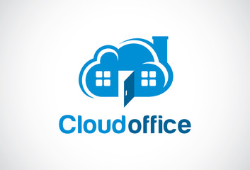 Cloud Office Logo Template Design Vector, Emblem, Design Concept, Creative Symbol, Icon