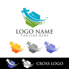 LOGO, CROSS, FOR CHURCH logo isolated