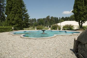 Park of Baron von Brukenthal Palace in Avrig, Transylvania
