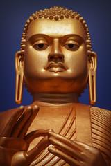 The giant Buddha statue in Dambulla cave temple