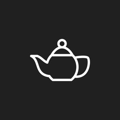 Vector Illustration Of Cooking Symbol On Teapot Outline. Premium Quality Isolated Kettle Element In Trendy Flat Style.
