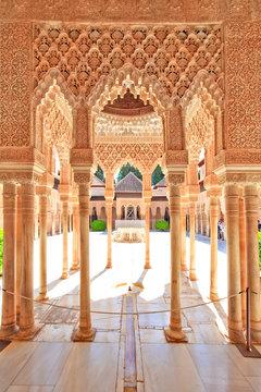 Alhambra, palais des lions, Grenade