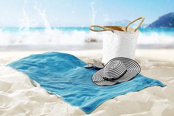 towel on beach