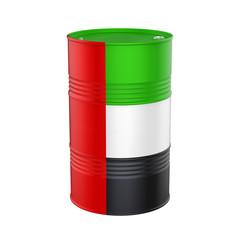 United Arab Emirates Flag Oil Barrel