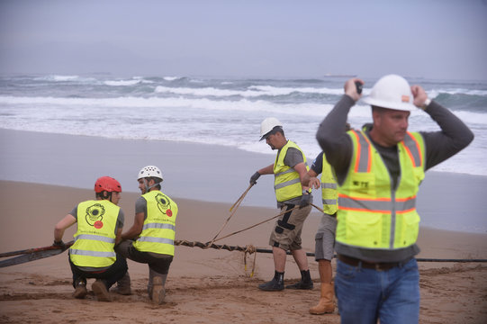 Facebook Inc. and Microsoft Corp. join forces to build an underwater fiber optic cable across Atlantic Ocean at Arrietara beach, near Bilbao