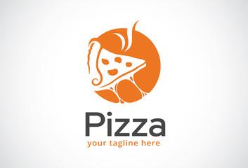Pizza Logo Template Design Vector, Emblem, Design Concept, Creative Symbol, Icon