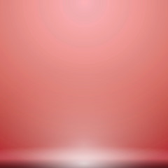 Abstract luxury red gradient with lighting background Studio backdrop, well use as black backdrop, Vector