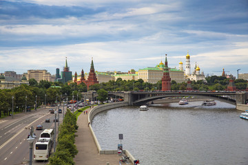View of Moscow from a bird's eye view.