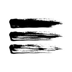 Grunge paint brush stroke set.