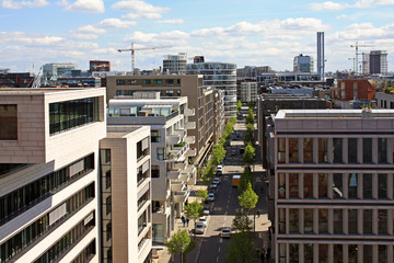 HafenCity district in Hamburg in Germany