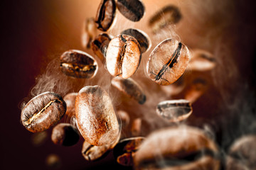 Photo sur Aluminium Café en grains coffee splash