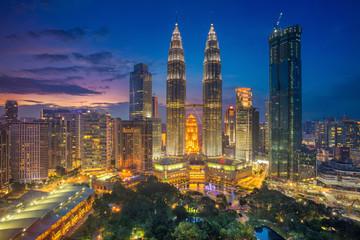 Fotobehang Kuala Lumpur Kuala Lumpur. Cityscape image of Kuala Lumpur, Malaysia during sunset.