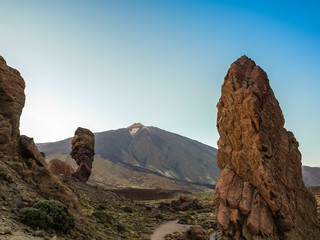 Famous rocks of Tenerife with Teide