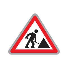 Road work icon or logotype