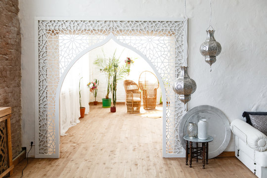 Eastern traditional interior. Arabic style room