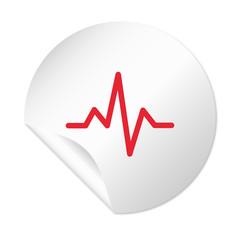 Runder Sticker - Puls rot