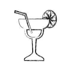 Cocktail glass symbol icon vector illustration graphic design