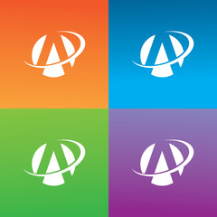 letter A round loop logo