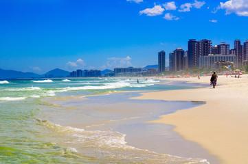 Beach in Barra da Tijuca beach, Rio de Janeiro. Brazil