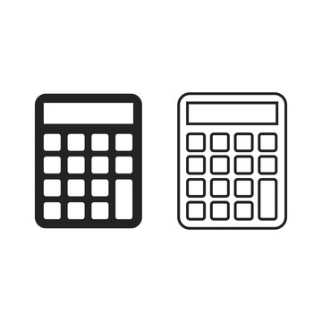 Calculator icon set, vector simple illustration.