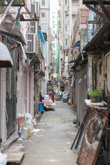 Narrow Alley in Kowloon Hong Kong Hong Kong