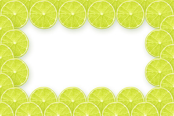 fresh lime slices frame