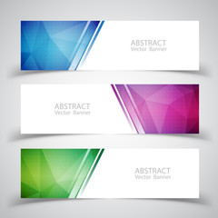 Vector abstract design banner background. Vector illustration.