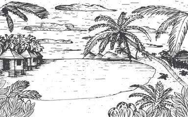 Sea beach illustration