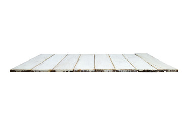 Wood floor texture isolated on empty white wall background