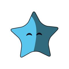 Star cute cartoon icon vector illustration graphic design