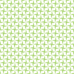 Seamless geometric pattern in green color made of thin flat trendy linear style lines. Inspired of banknote, money design, currency, note, check or cheque, ticket, reward. Watermark security. Vector.