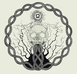 Chaotic inspired Skull Design