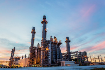 Fotobehang Industrial geb. Refinery plant of a petrochemical industry at night