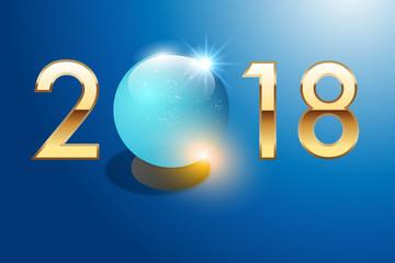 2018 - boule de cristal - carte de vœux - voyante - astrologie
