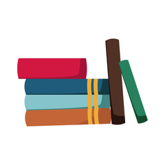 stack of books collection library image vector illustration