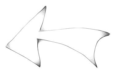 Arachnoid Recycling Web Arrow -  Gloomy Halloween Concept -  Drawing Sketch Vector Illustration