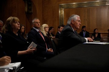 U.S. Secretary of State Tillerson testifies before the Senate Foreign Relations Committee on Capitol Hill in Washington