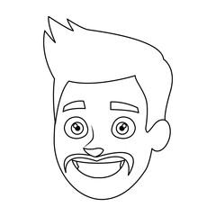 businessman profile male portrait man vector illustration