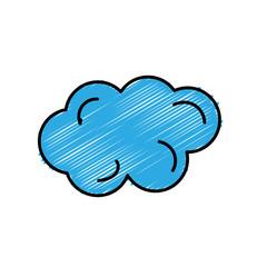 beautiful line cartoon cloud