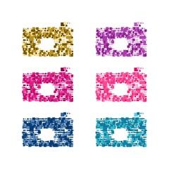 Pixel camera vector illustration