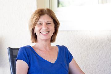 senior woman in summer smiling