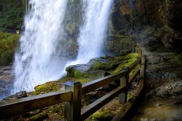 behind the big water falls