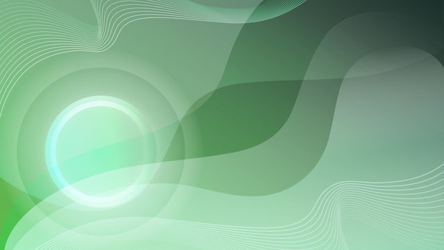green focused swooshes