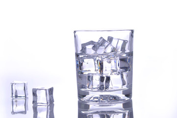 Water with ice is isolated