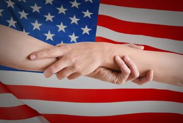 Handshake of friendship isolated on white