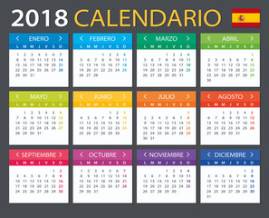 Calendar 2018 - Spanish version