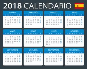 Calendar 2018 - Spanish Version