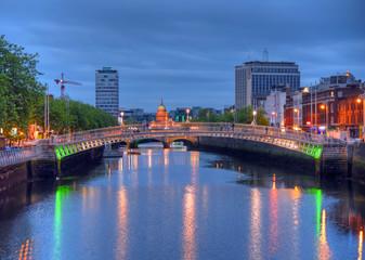 Ha Penny Bridge in Dublin, Ireland